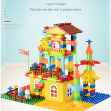 design building blocks toys construction set for children boys kids Compatible with legoing Duplo brick educational palace model цена в Москве и Питере