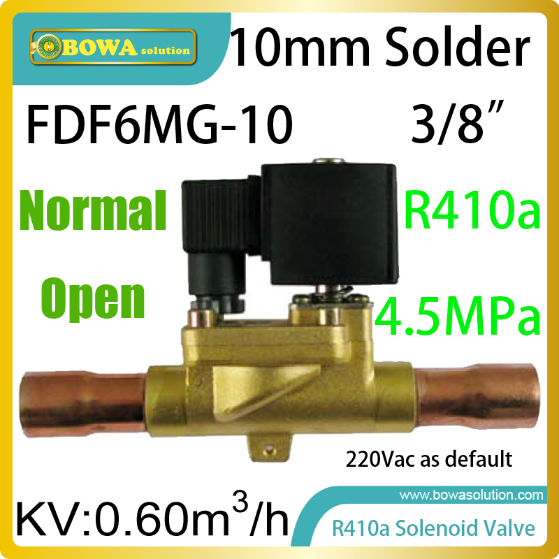 Normal Open (NO) solenoid valve with 3/8 solder connection and 0.6m3/h flow rate is installed in suction pipelines in the units 3 8 check valve with solder connection for bus air conditioner and refrigeration truck replace sporlan check valve