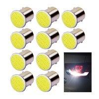 100x 1156 BA15S 1157 BAY15D cob 12v Rear Turn Signal bulbs Trailer Truck Light parking Auto Car lamp car styling red yellow