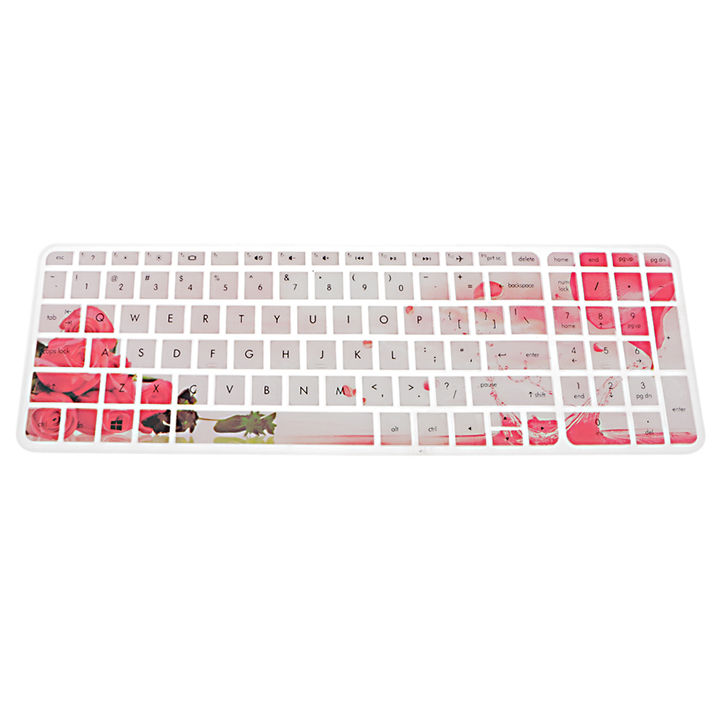 MagiDeal 2pcs Silicone Keyboard Skin Cover Protector for HP Pavilion 15/'/' PC