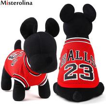 Verano mascota perro chaleco Baloncesto Jersey fresco transpirable PET gato  ropa Puppy ropa deportiva al aire f785ff2e5e49d