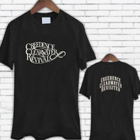 Custom T Shirts Online Premium O Neck Creedence Clearwater Revival Logo Short Sleeve Mens Tee Shirts