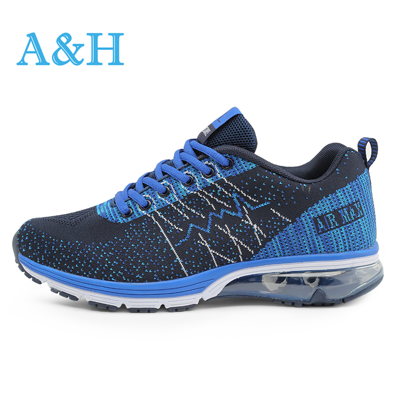 ФОТО Men Women Running Shoes for men sneakers 2016 Autumn Comfortable mesh lovers Sneakers Fly Weave Breathable athletic Sport Shoes