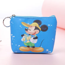 Disney children cartoon plush coin pu purse Mermaid princess Frozen girl bag coin Elsa handbag boy Mickey Clutch plush wallet(China)