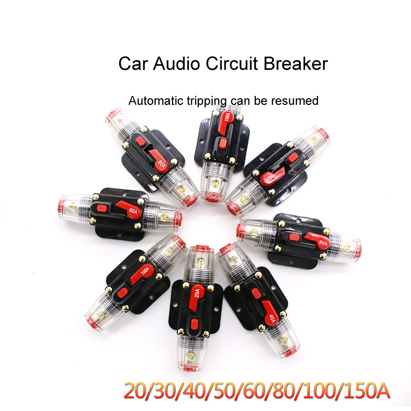 2019 Hot Circuit Breaker 50A Refit 150A AGU Car Holder Audio Style 80A 100A Truck Adapter 12V Amplifier <font><b>Fuse</b></font> Stereo <font><b>60A</b></font> image