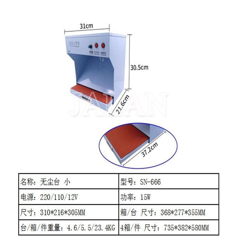 Pièce sans poussière avec lumière pour iphone samsung HUAWEI lcd réparation nettoyage salle de poussière peut réglable avec fonction de contrôle de la poussière utilisation - 6