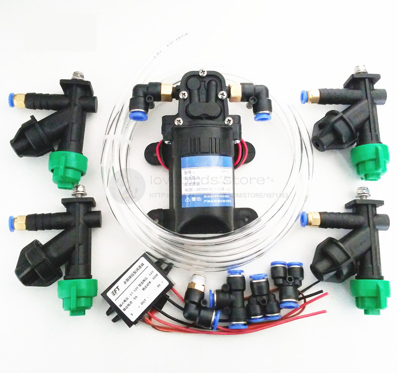 DIY 5/10/15/20KG sprayer combo nozzles,Water pump, Pump buck ESC,Adapters, pipes for 5L/10L/15L/20L wing arms agriculture drone