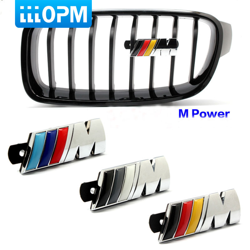 1PCS M power Motorsport Metal Logo Car Sticker Rear Trunk Emblem Grill Badge for BMW E46 E30 E34 E36 E39 E53 E60 E90 M3 motorsport manager [pc jewel]
