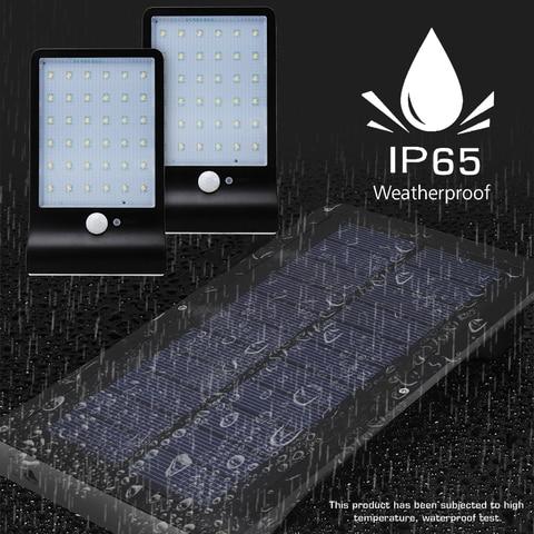 1 ac85 4pcs lampadas solares 36 leds sensor de movimento 265v levou iluminacao solar ao