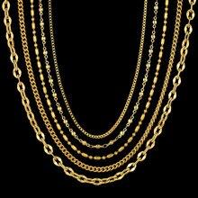 Collar de cadena de acero inoxidable de 2MM para mujer, Mini Collar de Color dorado para mujer, venta de joyas a la moda