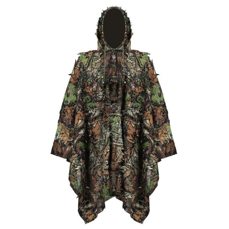 * Neue 1,6 Mt 3d Jagd Verlässt Kleidung Dschungel Woodland Jagd Mit Cap Anzug Camo Poncho Mantel Bionic Für Sniper Fotografie * Ein Bereicherung Und Ein NäHrstoff FüR Die Leber Und Die Niere