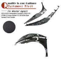 Guardabarros delantero de diseño YC de fibra de carbono seco para 14-19 Huracan LP610-4 y LP580-2 Coupe Spyder ventilado guardabarros delantero