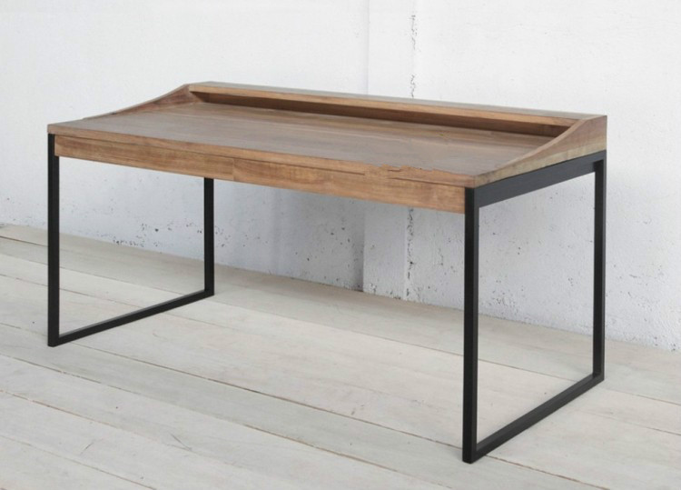 Delicieux American Village Board Table Desk Industrial Wood , Wrought Iron Desk  Computer Desk Table Desk Painted Tables In Computer Desks From Furniture On  ...