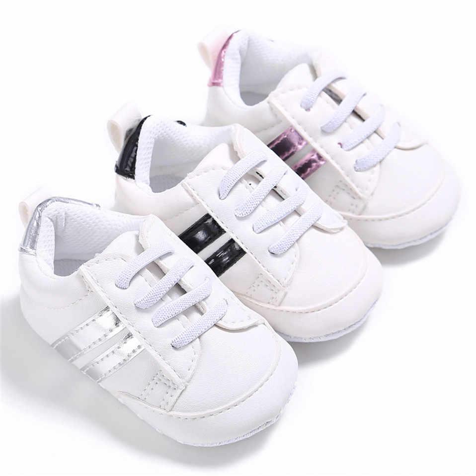 รองเท้าเด็ก PU รองเท้าหนังกีฬารองเท้าผ้าใบทารกแรกเกิดทารกเด็กชายหญิงลายรองเท้าเด็กทารกรองเท้าเด็กวัยหัดเดิน Soft Anti-SLIP รองเท้า