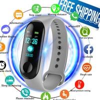 Fitness Horloge Bluetooth Smart Armband MaleDigital Sport Polsband hartslag Bloeddruk Stappenteller op Android iOS PK Miband