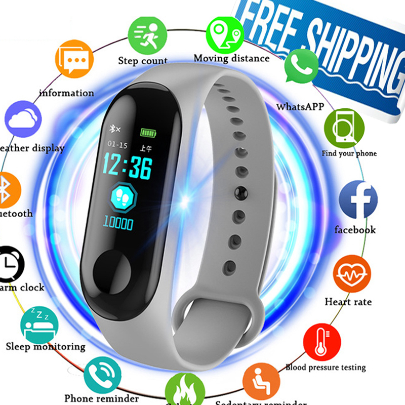 Fitness Watch Bluetooth Smart Bracelet MaleDigital Sport Wristband Heart Rate Blood Pressure Pedometer On Android IOS PK Miband