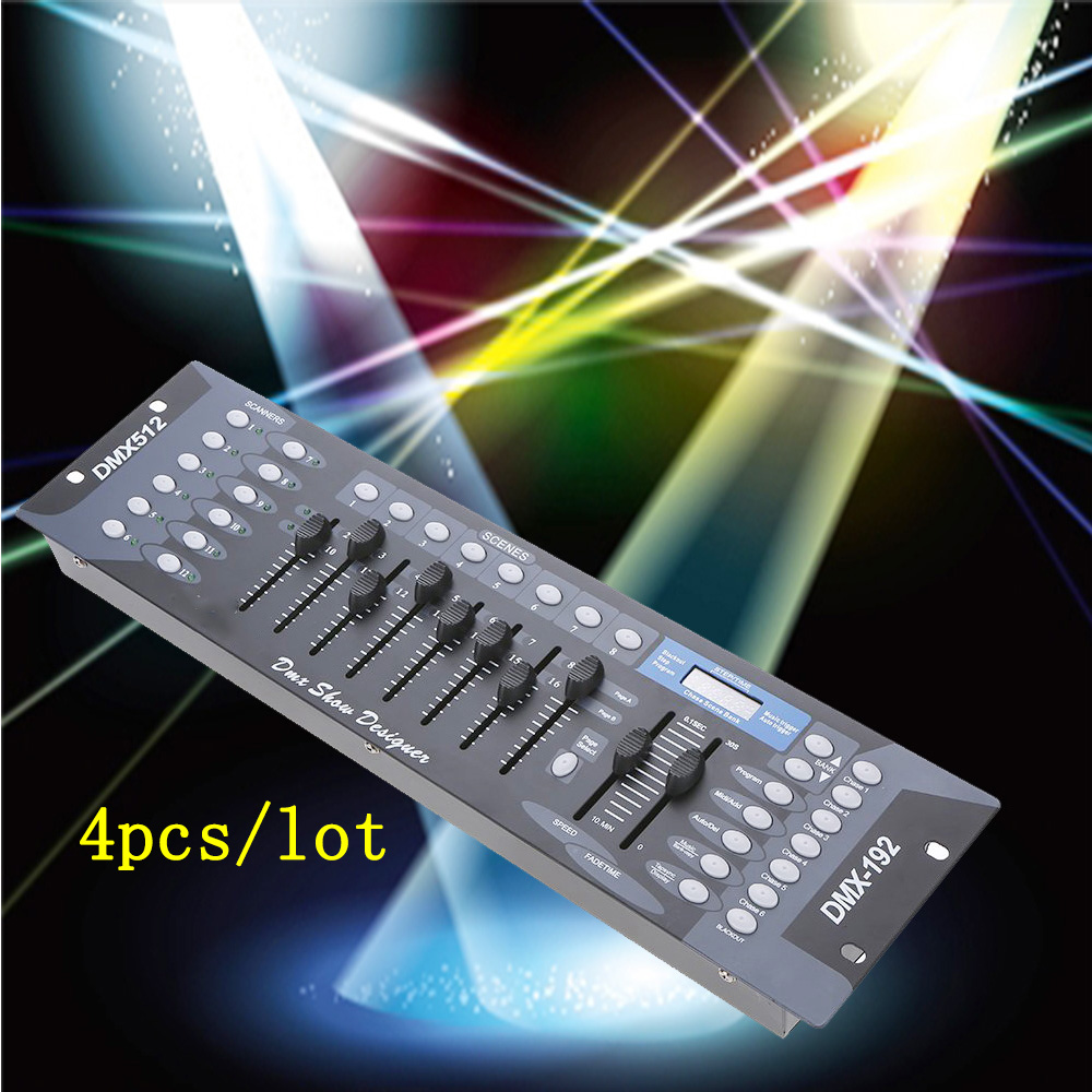 4pcs/lot DMX512 Stage Light 192 Controller for Stage Party DJ DMX Console Disco цена