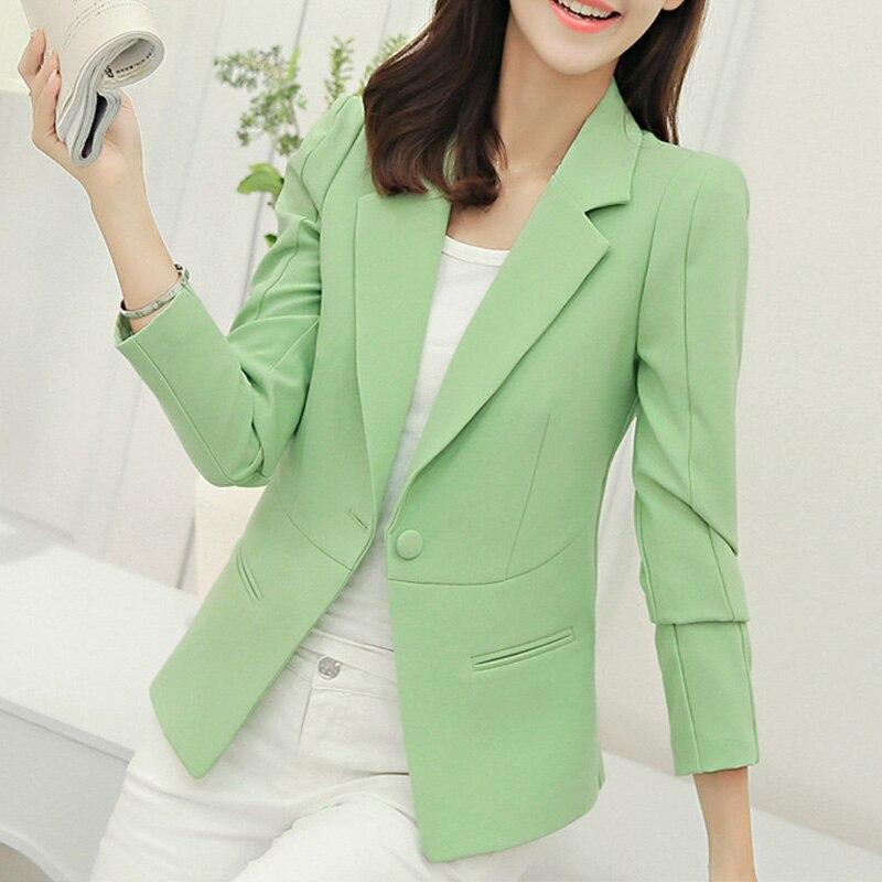 Spring Notched Women's Blazer Black White Office Lady Coat Long Sleeve Blazers Women 2020 Single Button Fashion Workwear Jacket