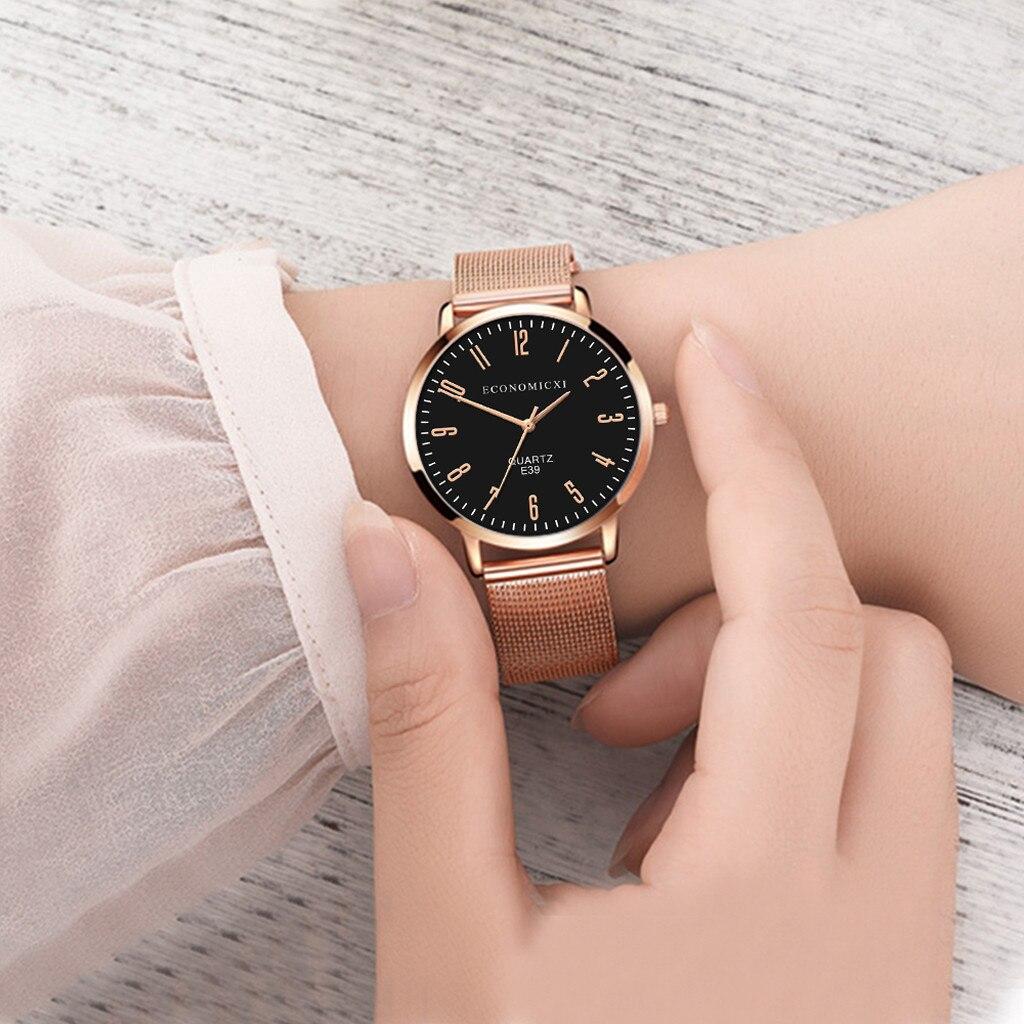 Top Brand Luxury Casual Clock Ultra Thin Ladies Watch Women Rose Gold Stainless Steel Quartz Wrist Watch Relogio Feminino LD
