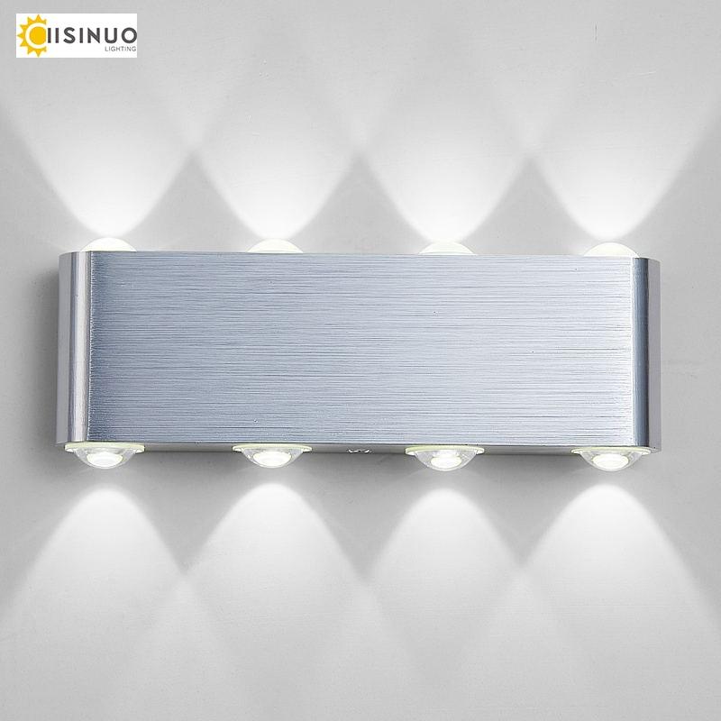 IISINUO Moderní kreativní LED nástěnná lampa nahoru dolů Zaoblené tvarové svítidlo 6W 8W AC110v-240v pro chodbu do obývacího pokoje