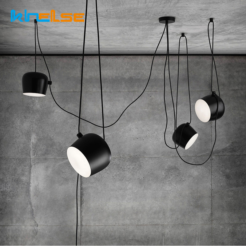 Modern Nordic Simple DIY Restaurant Pendant Lights Scandinavian Creative Industrial hang Dining Room Lamp Bar Cafe Pendant Lamp nordic pendant lights simple creative office fast food restaurant bar counter table barber shop internet cafe study iron lamp