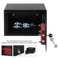 8 5L Office Home Sturdy Anti Thief High Security Single Door Safe Deposit Box With 7