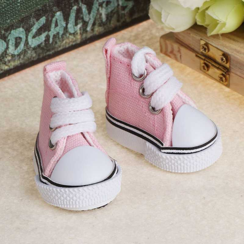 5cm Doll Shoes Accessories Canvas Fashion Summer Toys Mini Sneakers Denim Boots