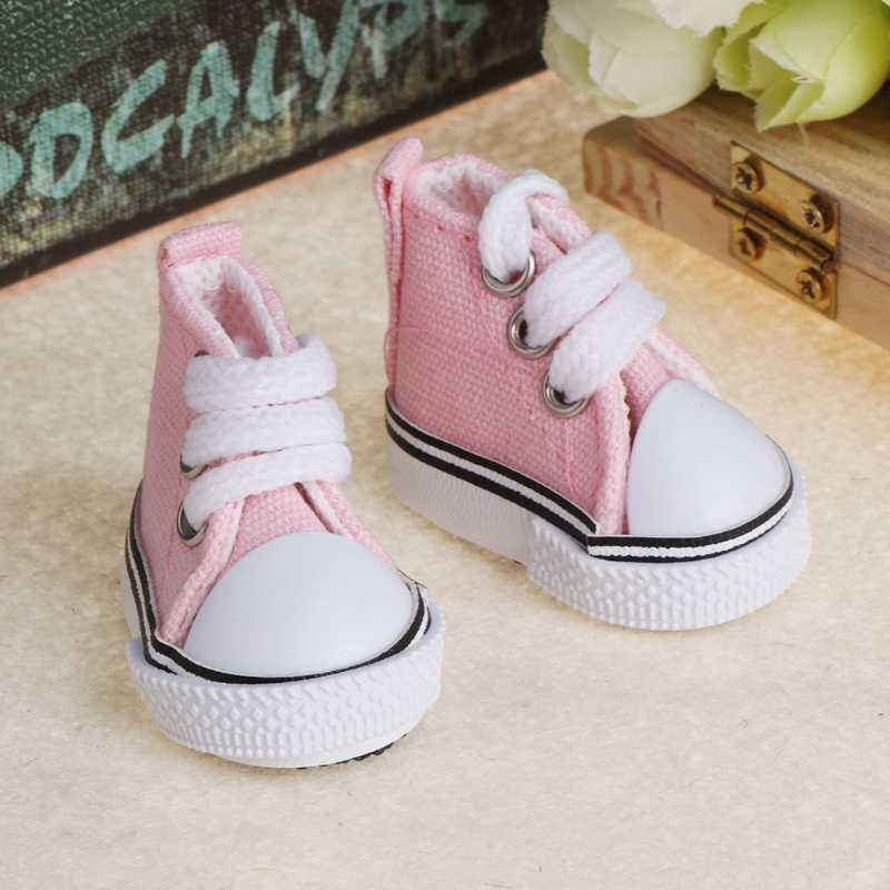 5เซนติเมตรตุ๊กตารองเท้าอุปกรณ์เสริมผ้าใบแฟชั่นฤดูร้อนของเล่นมินิรองเท้าผ้าใบรองเท้าผ้ายีนส์