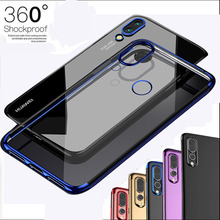 Ultra Thin Clear Plating Bumper Frame Clear Silicone Case Cover For Huawei P20 Lite Transparent TPU Gel Phone Capa For Nova 3E clear shave gel 0 85 oz clear tube case 576 pieces