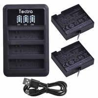 2 pièces d'origine mi jia 4 k batterie pour xiaomi mi jia + LED 3 emplacements USB chargeur pour Sport Xiao mi Jia Action mi ni caméras batterie