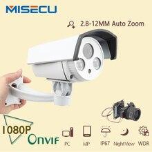 Auto lente de Zoom 2.8-12mm Conjunto de cámaras IP 2.0MP FULL wide dynamic CMOS HD de Onvif P2P Cámara de Visión Nocturna cctv Cámara de seguridad