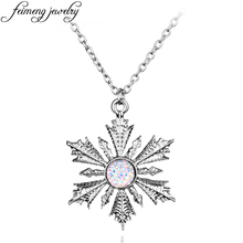 Once Upon A Time Pendant Necklace Fashion Charm Silver Crystal Show Snowflake Elsa Pendant Jewelry For Women Statement Necklace