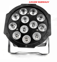 12x12W led By dmx dj lights RGBW 4in1 flat by led dmx512 lights disco dj professional stage equipment