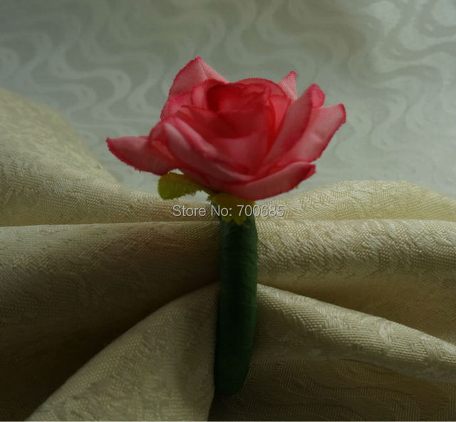 Silk rose flower napkin ring napkin holder in napkin rings from silk rose flower napkin ring napkin holder mightylinksfo