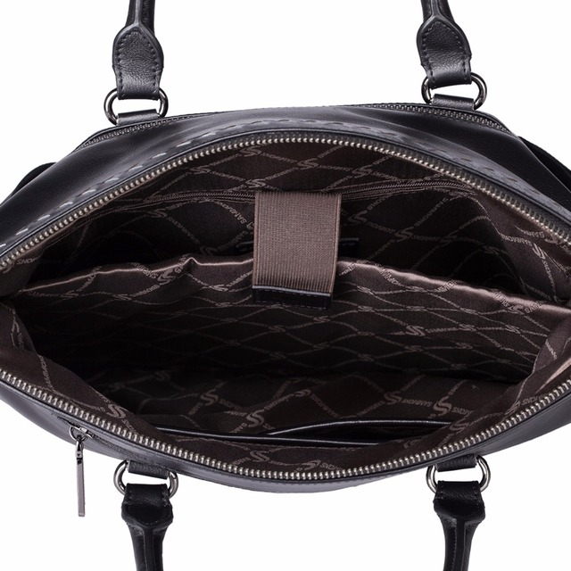 SAMMONS Brand Design Business Casual Braided Genuine Cow Leather Men Handbag Shoulder Crossbody Bags
