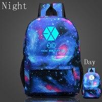 2017 Hot Sale EXO Luminous Backpacks For Women School Bags For Girl Boy Casual Travel EXO