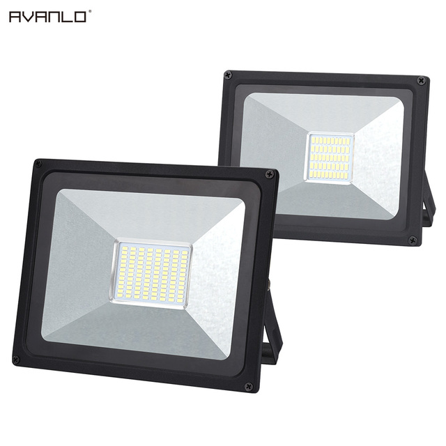 50W 100W waterproof ip65 floodlight Flood Light 220V LED Spotlight Reflector LED Outdoor Lighting Garden Lamp newest
