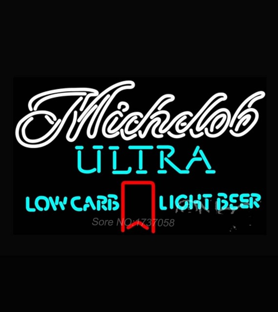 Michelob Ultra Light Low Carb Red Ribbon Neon Sign Dallas Cowboys Jersey  Neon Sign Nbaa Houston