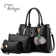3Pcs Set 2016 New Winter Luxury Bag Female Leather Handbag Women Hand Bag Messenger Crossbody Bags