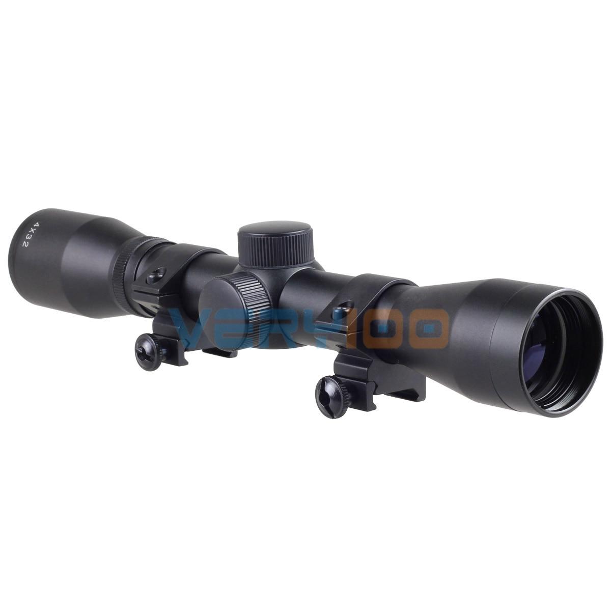 Hunting Tactical 4 x 32 Rifle Optics Sniper Scope Reviews Sight Hunting Telescopic Scopes tactical 4 x 32 air rifle optics sniper scope reviews sight hunting riflescope scopes rail mount 20mm