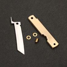 כיס סכין DIY ערכות 3 שכבה מזויף נירוסטה תער מתקפל סכין שירות חיצוני EDC יד כלים סכין