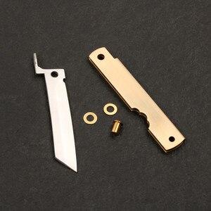 Image 1 - Pocket Knife DIY Kits 3 layer forged stainless steel razor folding knife outdoor utility EDC hand tools knife