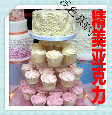 4 niveaux verre organique support acrylique fin gâteau de mariage tour gâteau d'anniversaire produits acrylique cupcake stand décoration