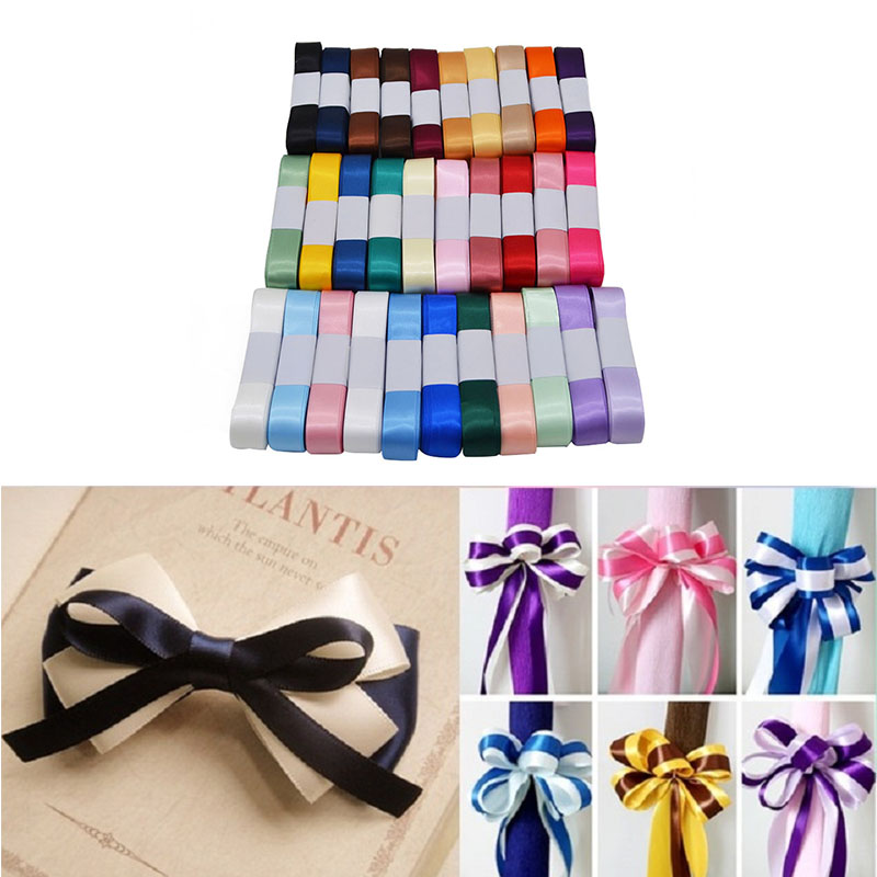New Silk Satin Ribbon 15mm 5M/lot Wedding Party Decoration Invitation Card Gift Wrapping DIY Bow Craft Supplies Riband