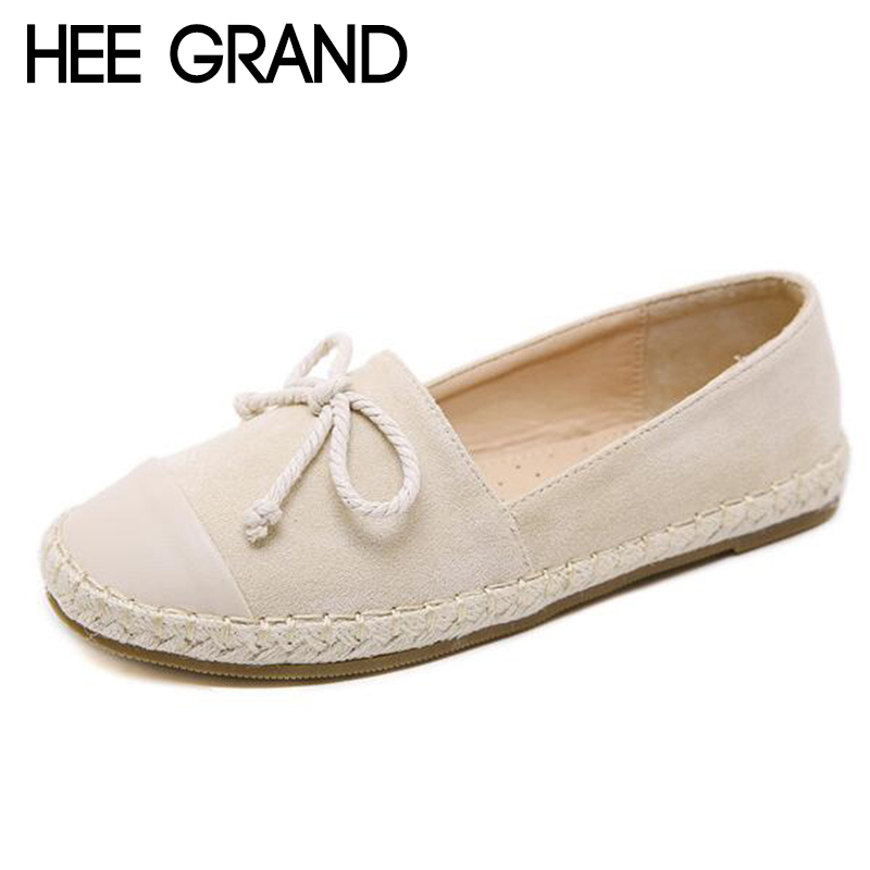 HEE GRAND 2018 New Women Flats Rome Retro Bow-cot Flock Vamp Women Platform Slip-on Causal Fashion Mujer Shoes XWD6811 hee grand solid patent leather women oxfords british new fashion platform flats casual buckle strap ladies shoes woman xwd5833