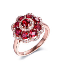 PURE HANDMADE PERSONALIZED SILVER choose ruby stone and engrave names sun flower ring rose gold ring custom gold zircon