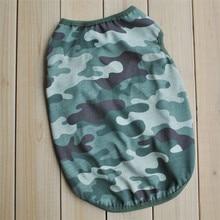 Bajila Camouflage Pattern Dog Vest Coat Wear Dog Clothes Pet Vest Puppy Clothing Dog T-shirt Pet Fashion Design Clothes