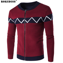 ROKEDISS cardigans men sweaters new 2017 knitwear zipper cardigan Top quality brand clothing fashion Stitching male coat Z194
