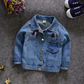 2016 spring kids clothes  girls denim jacket coat for girl children cotton stretch denim jeans jacket coat