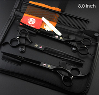 Professional Pet Grooming Scissors 7 8 Cutting Thinning Curved Scissors Quality Fur Clippers Shears For Cat